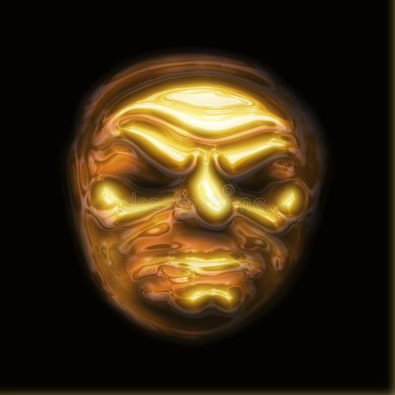 Golden Face Royalty Free Stock Photos