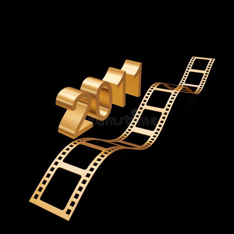 Download Golden film 2011 stock illustration. Image of oscars - 17153594