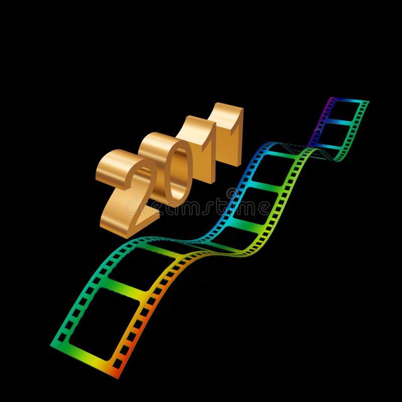 Download Golden film 2011 stock illustration. Illustration of industry - 17210830