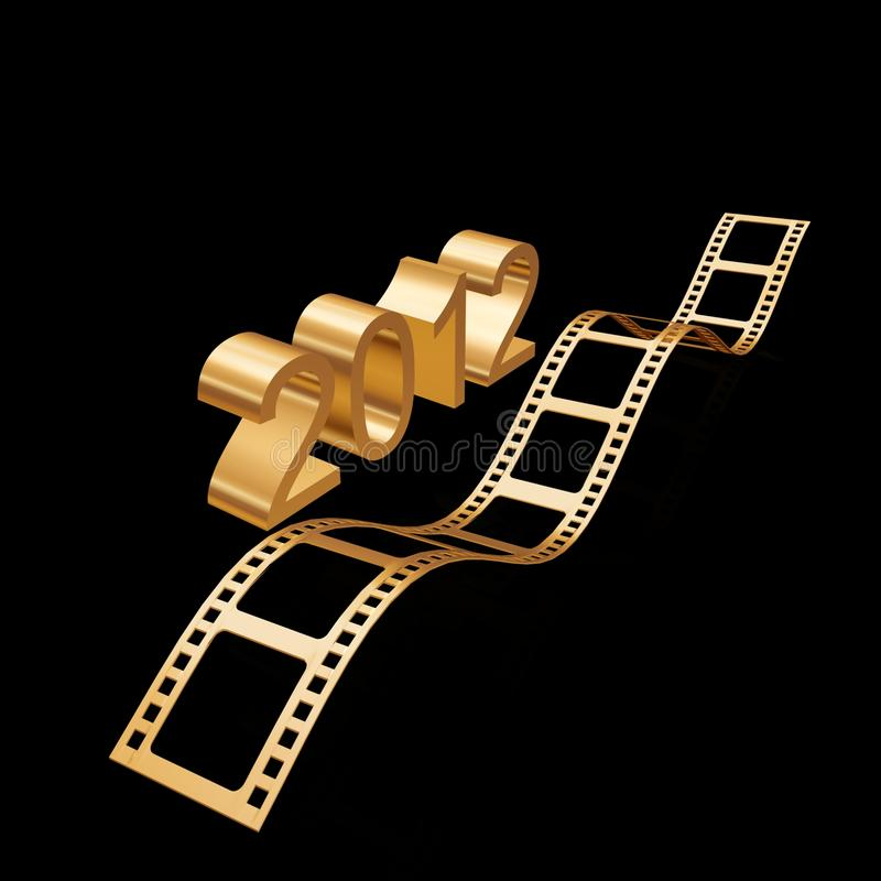 Golden Film 2012 Stock Photography