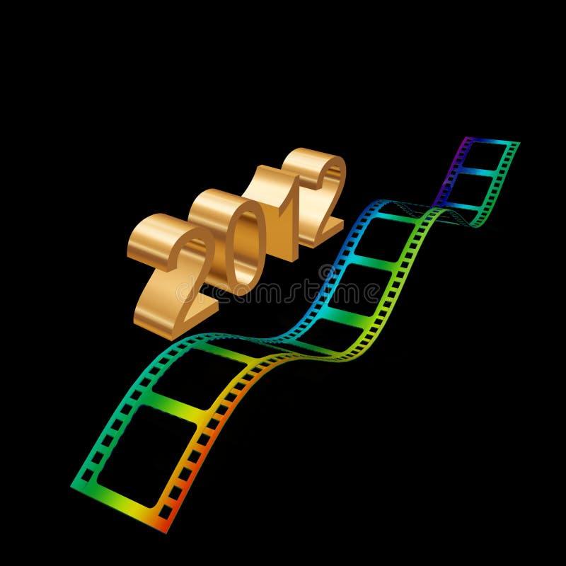 Download Golden film 2012 stock illustration. Image of golden - 17210828