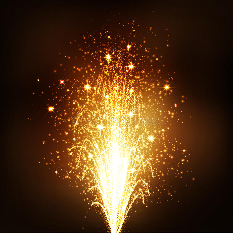 Free Golden Firework Volcano Fountain - New Years Eve Royalty Free Stock Photography - 60879917
