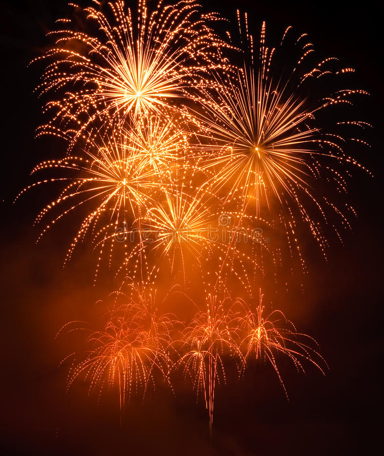 Free Golden Fireworks Stock Image - 15289701