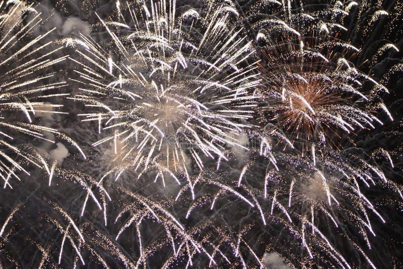 Golden Fireworks royalty free stock photo