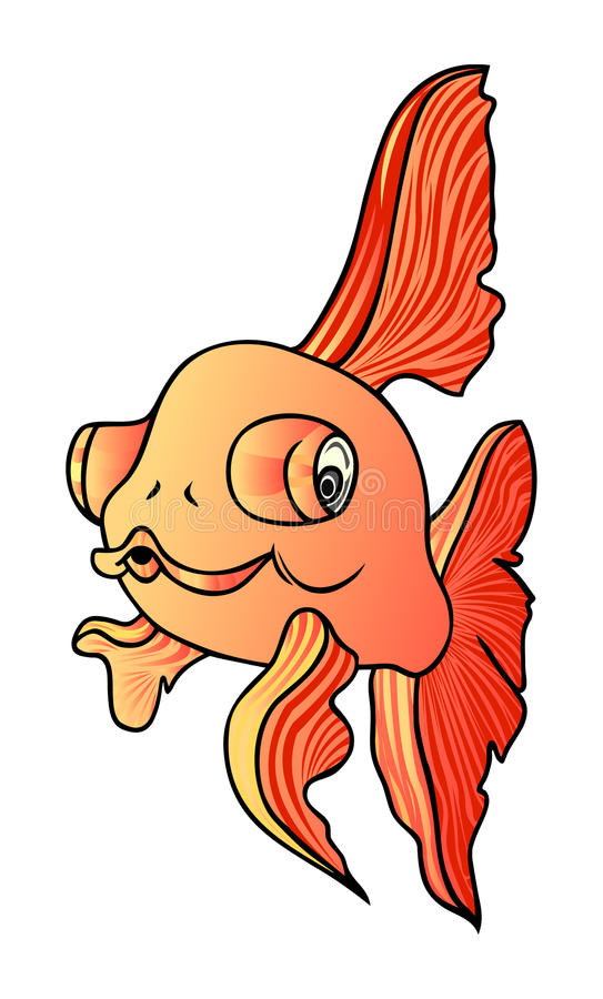 Download Golden fish stock illustration. Illustration of goldfish - 12576415