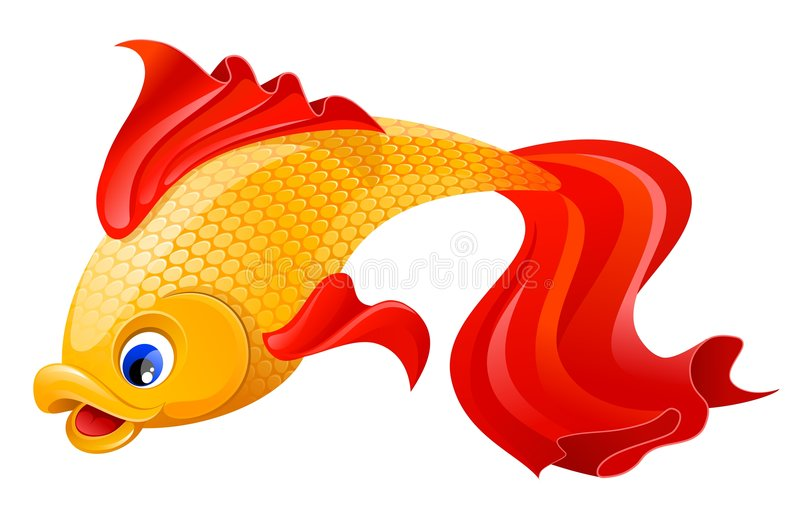 Golden fish vector illustration