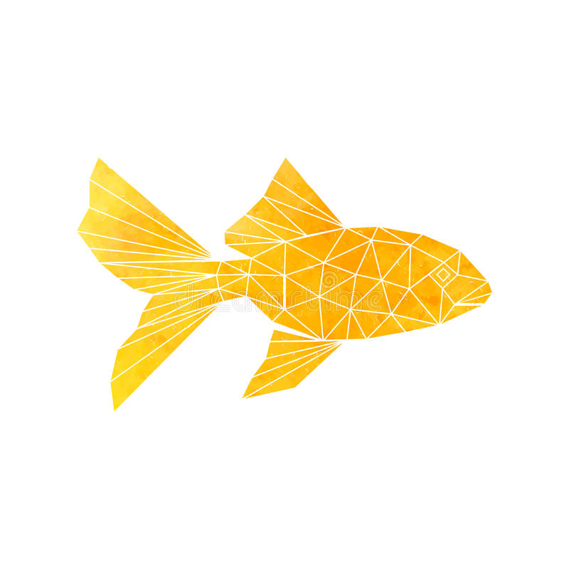 Fish polygon silhouette stock vector. Illustration of ...