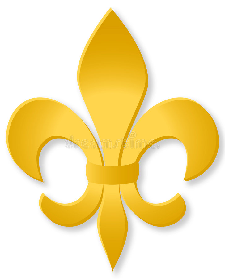 Golden Fleur De Lis/eps. Illustration of a golden Fleur de Lis