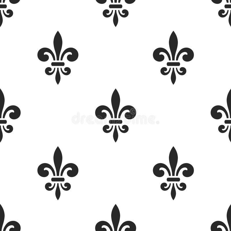 golden fleur de lis seamless pattern white 5 stock vector