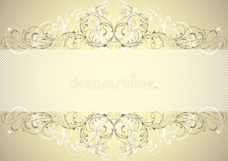 Golden floral background frame vector illustration