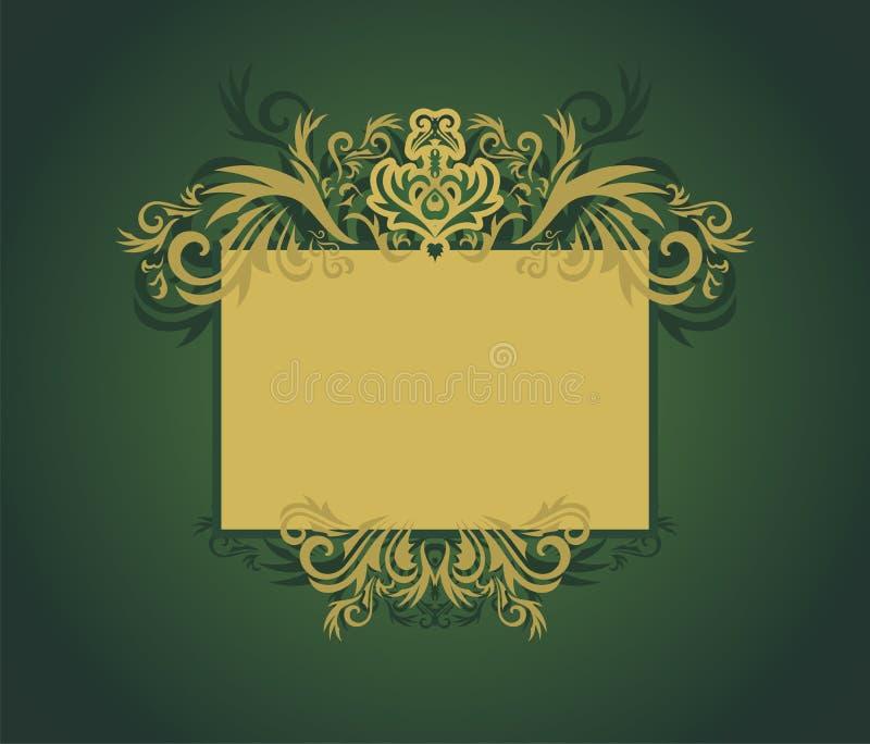 Download Golden floral frame stock vector. Image of frame, banner - 7845125