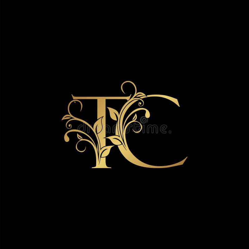Golden Font. Letter T. Stock Illustration. Illustration Of