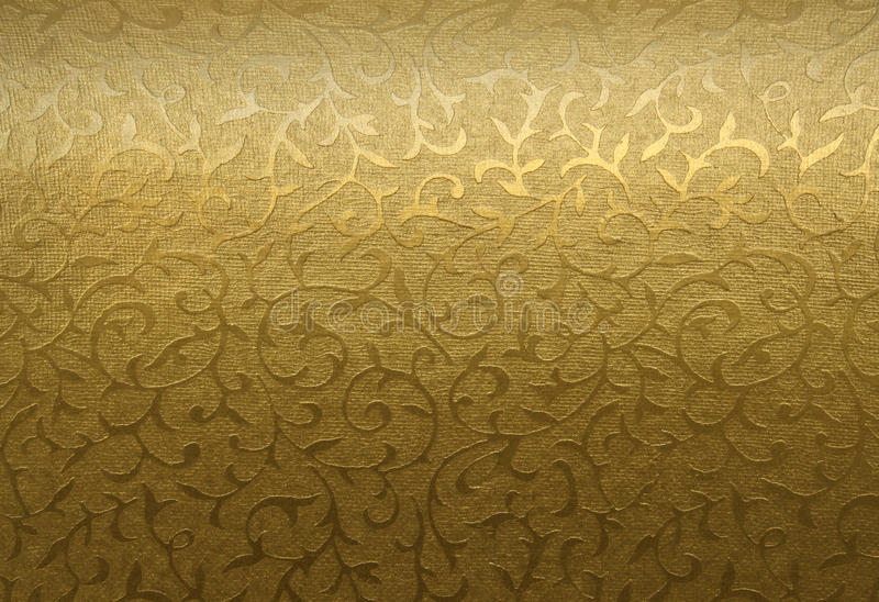 Golden floral ornament royalty free stock photography
