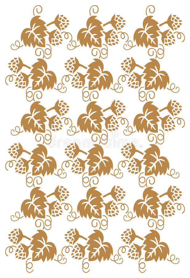 Download Golden Floral Pattern Royalty Free Stock Photos - Image: 13785158