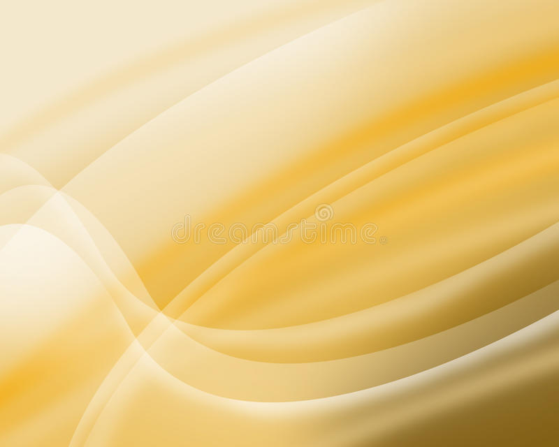 Golden flow. With artistic smooth backdrop royalty free illustration