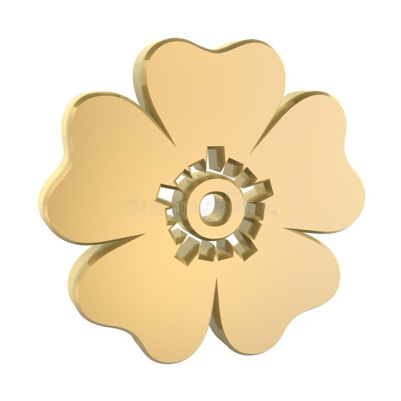 Golden flower vector illustration