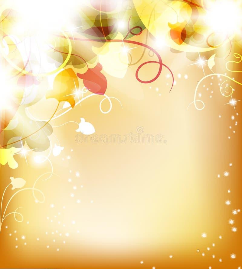 Golden flower background royalty free illustration