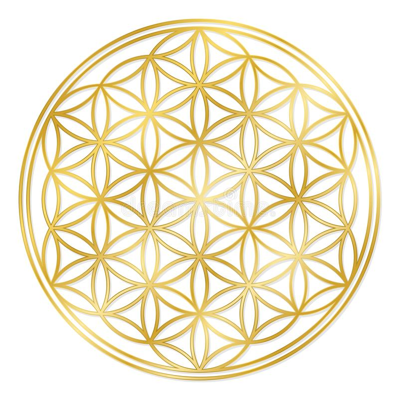 Free Golden Flower Of Life Royalty Free Stock Photos - 135434258