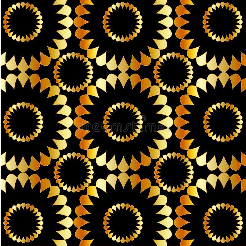 Download Golden Flower Wallpaper Stock Vector Illustration Of Glossy