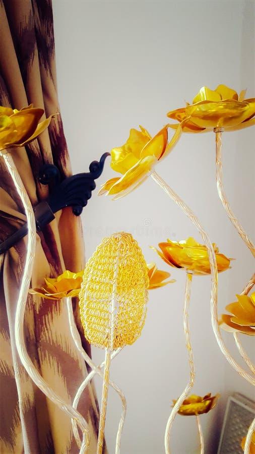 Golden Flowers stock image