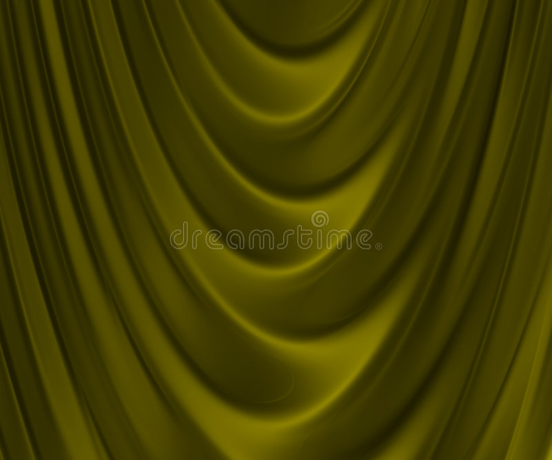 Golden folded fabric royalty free stock photography