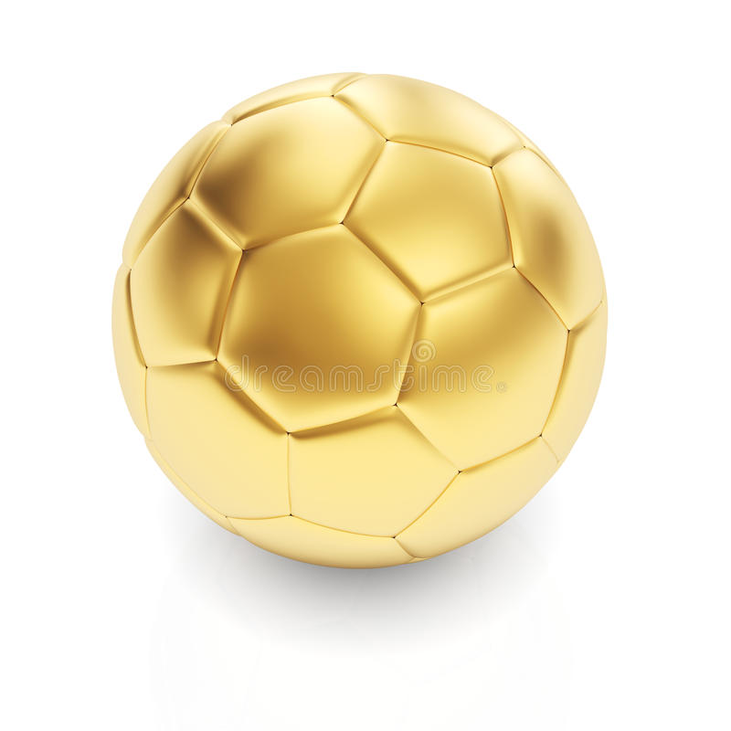 Download Golden football ball stock illustration. Image of equipment - 32616661