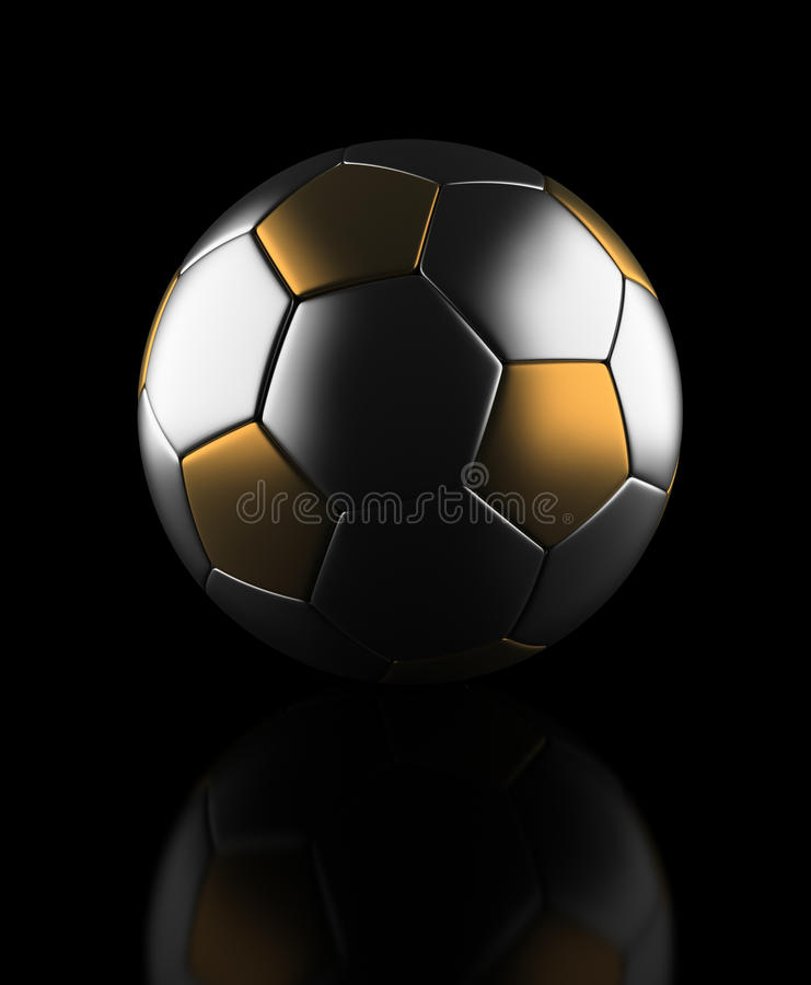 Golden Football stock image