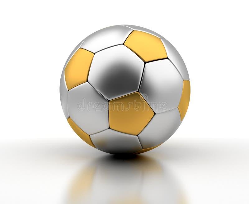 Golden Football royalty free stock photos