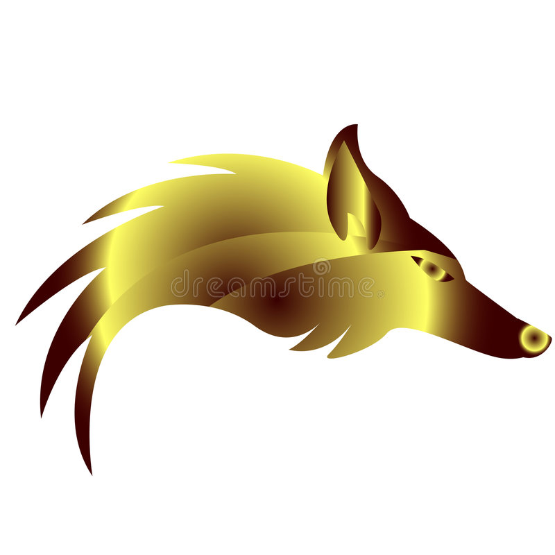 Golden fox stock illustration