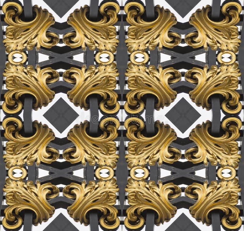 Golden Fractal stock photography
