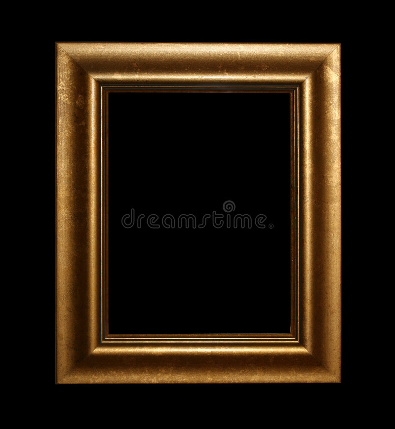 Golden fram with path royalty free stock photos