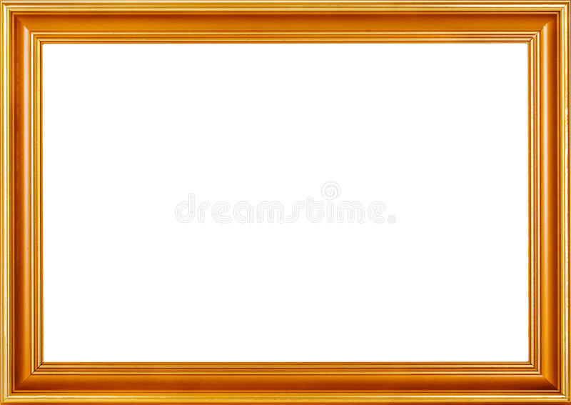 Golden frame. With clipping path