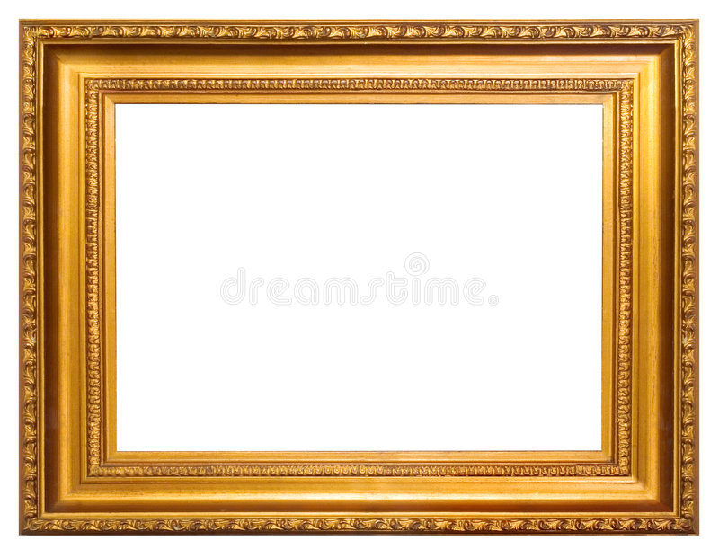 Golden frame royalty free stock photos