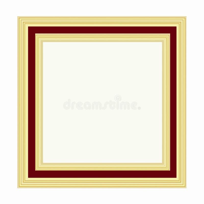 Download Golden frame stock illustration. Illustration of bordeaux - 28838936
