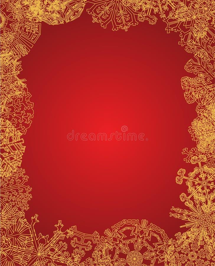 Golden frame. D christmas card vector royalty free illustration