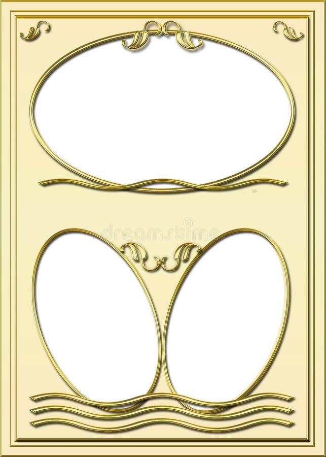 Download Golden Frame stock illustration. Illustration of golden - 4459615