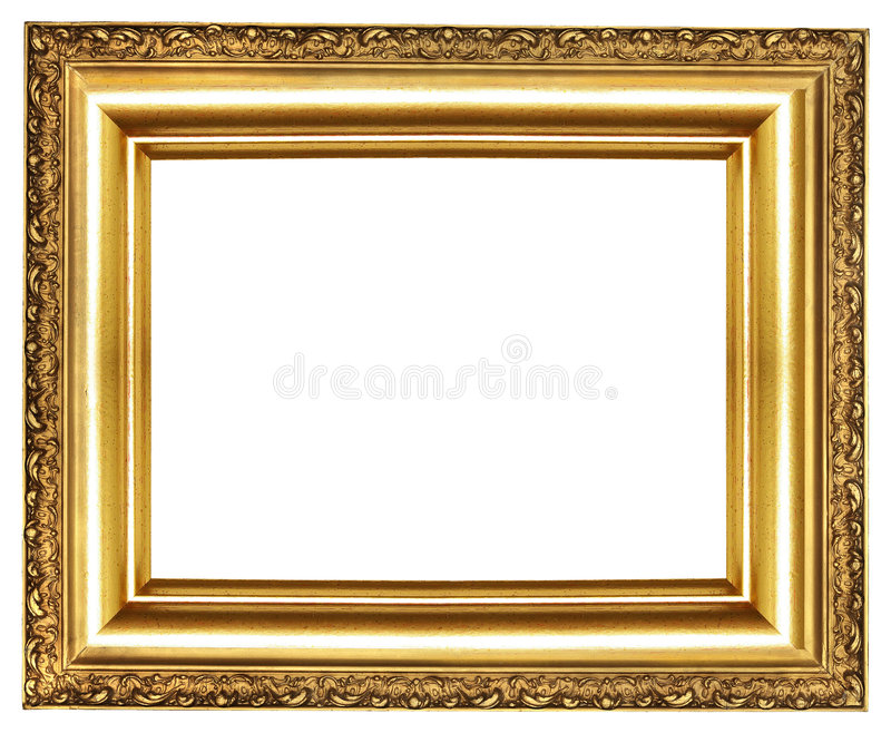 Download Golden frame stock illustration. Image of gold, isolated - 5979512