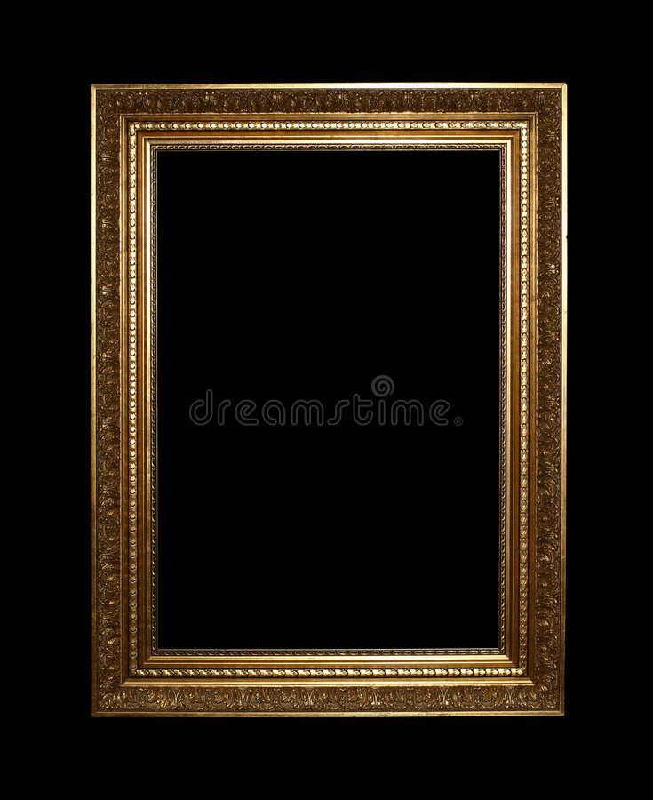 Golden frame with clipping path stock images