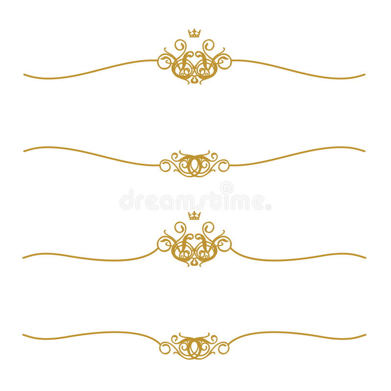 Golden Frame With Crown stock photography