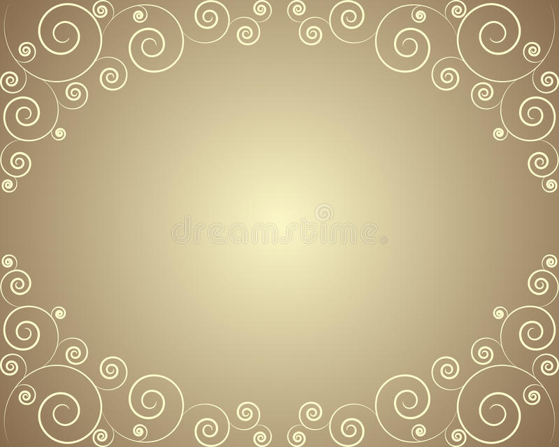 Golden frame with curls