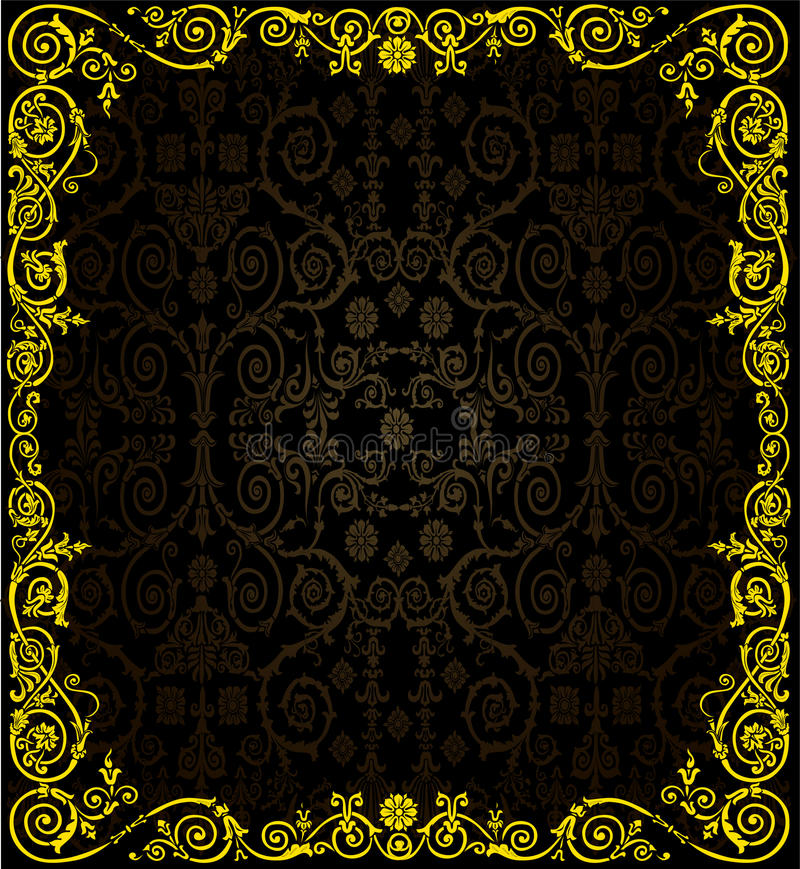 Golden frame on dark culed background royalty free stock image