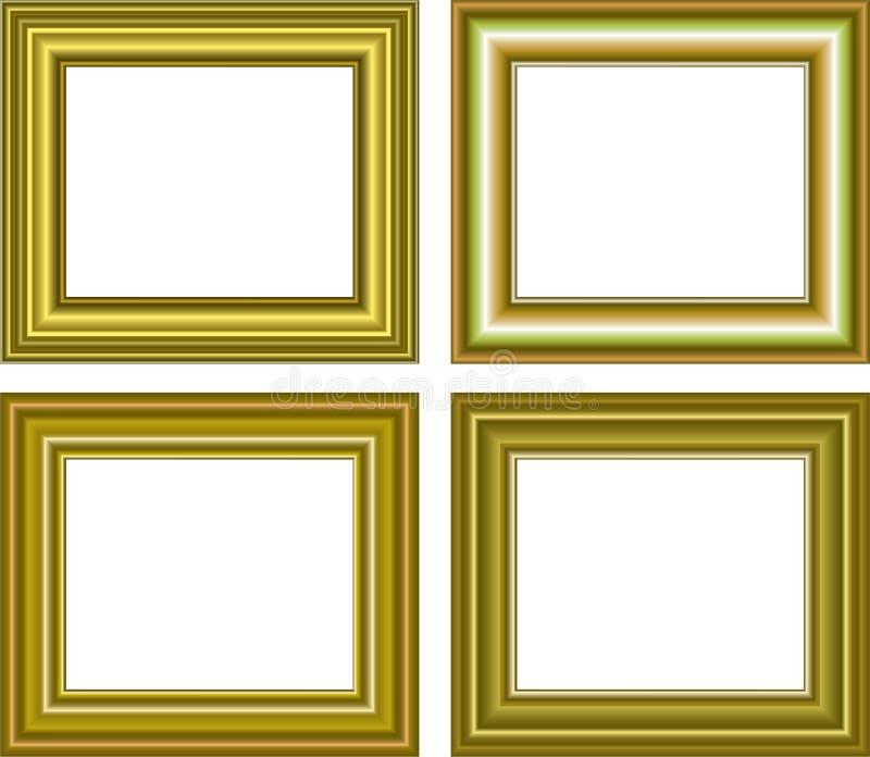Download Golden Frame Isolated On White Background Stock Illustration - Illustration: 26256124