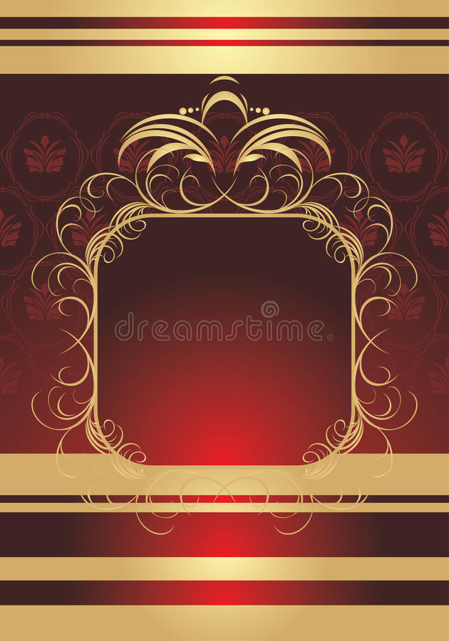 Free Golden Frame On The Decorative Background Stock Photo - 14989380