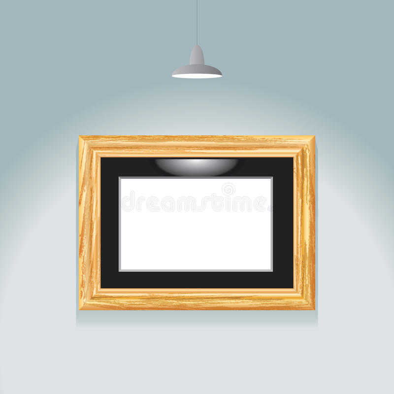 Download Golden frame spot stock vector. Image of gold, exhibition - 25312125