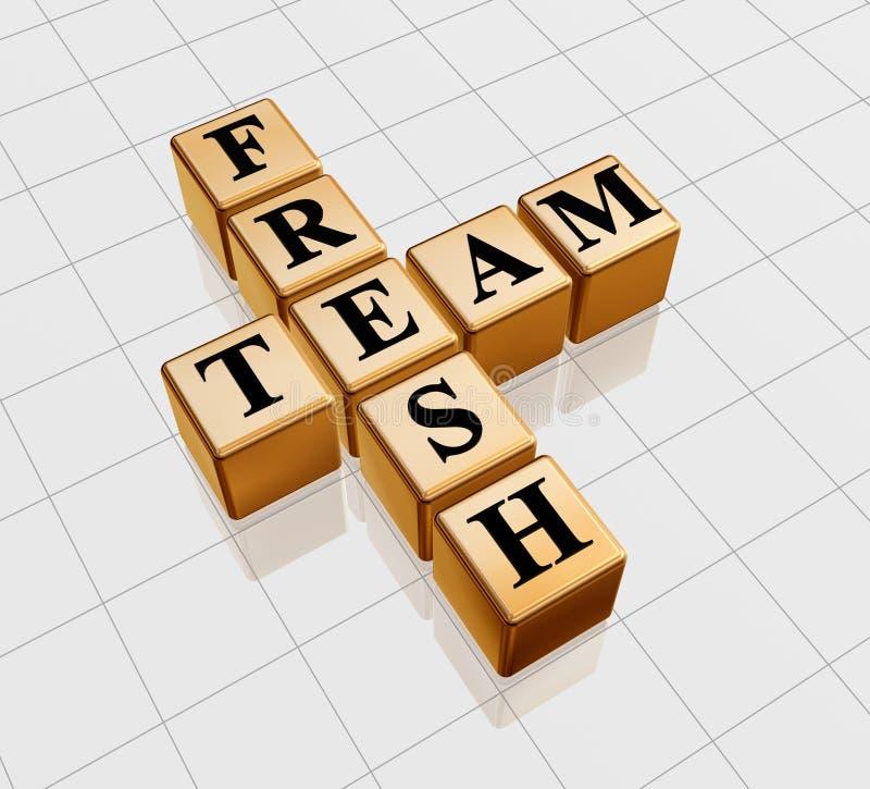 Golden fresh team stock images