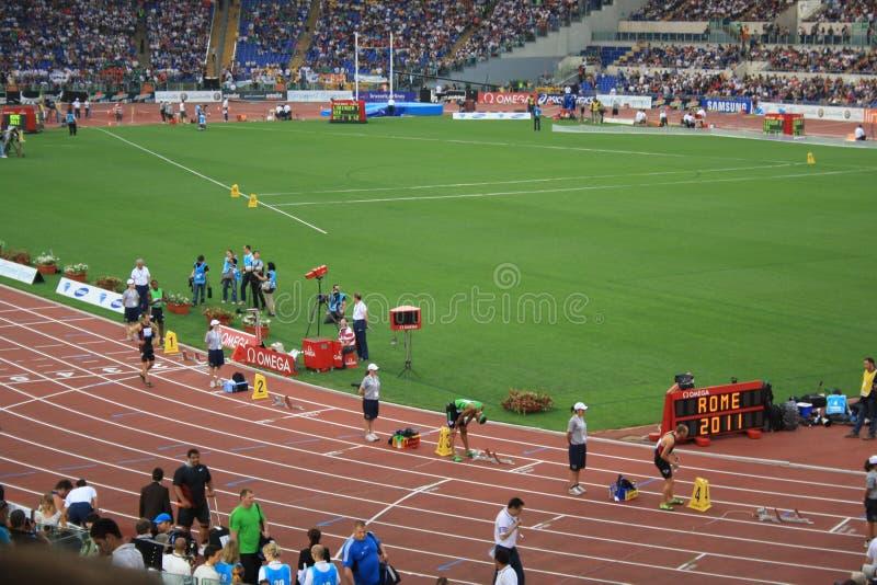 Golden Gala 2011. Rome - Diamond League 2011 event stock illustration