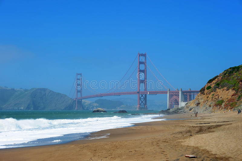 Download Golden Gate stock image. Image of rock, hill, surf, landmark - 17882549