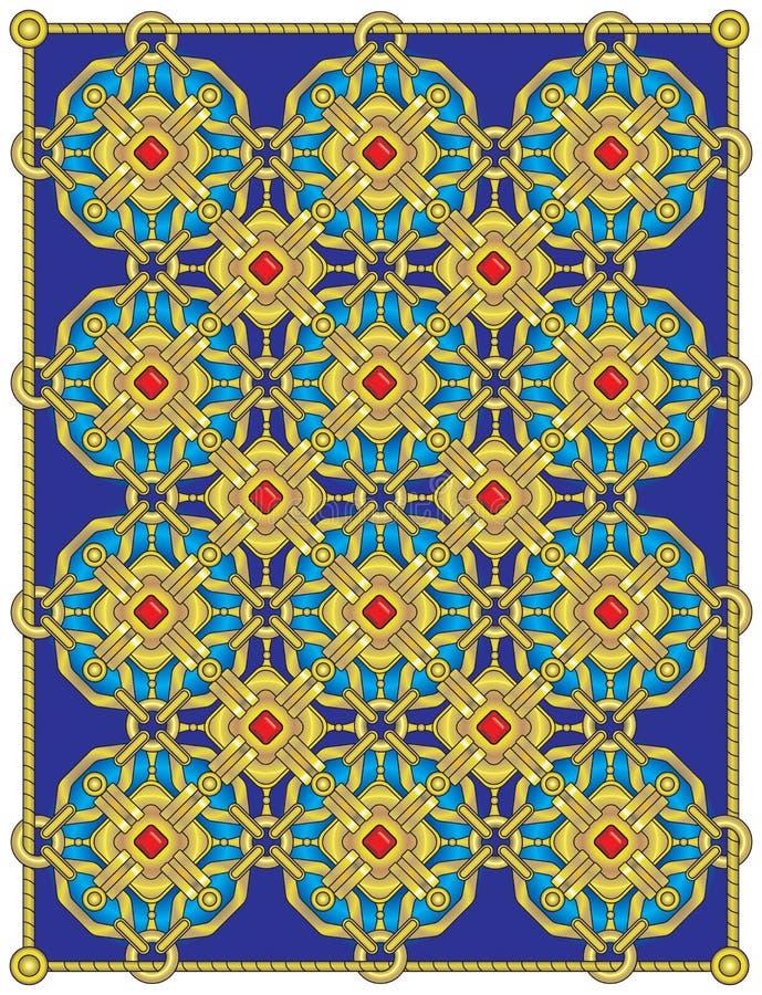 Download Golden gate stock vector. Illustration of gold, decor - 19985631