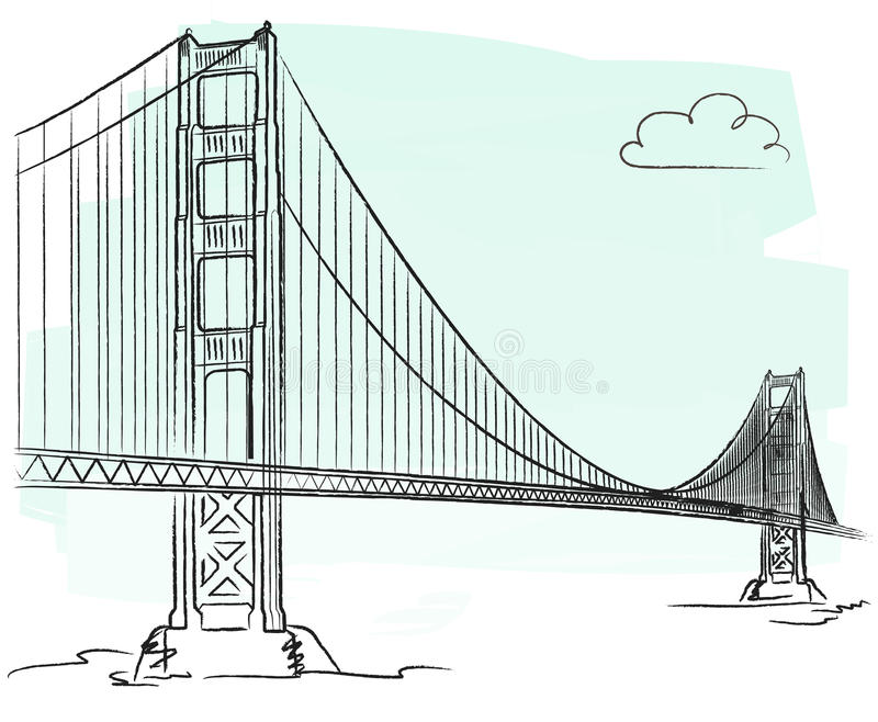 Golden Gate vector royalty free illustration
