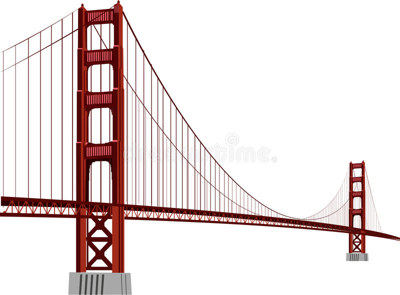 Download Golden gate stock vector. Image of drama, concrete, ncalifornia - 27925285